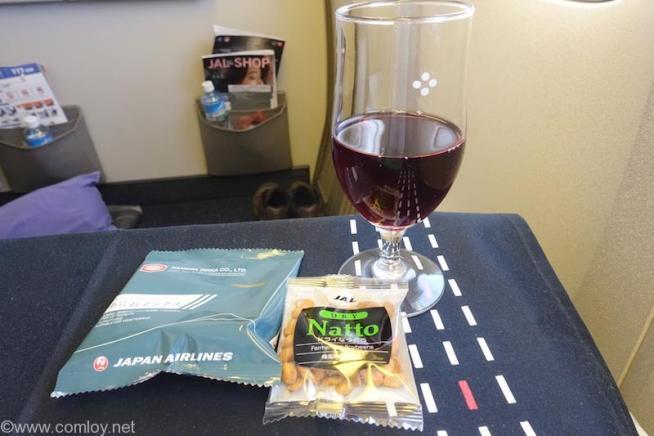 日本航空 JL31 羽田-バンコク ビジネスクラス機内食