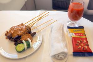 マレーシア航空 MH89 成田 -クアラルンプール ビジネスクラス機内食