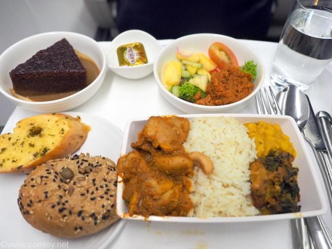 マレーシア航空 MH776 クアラルンプール - バンコク機内食