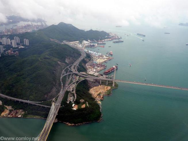 日本航空 JL29 羽田 -香港 香港上空