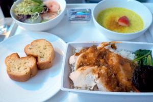 マレーシア航空 MH775 バンコクークアラルンプール ビジネスクラス機内食