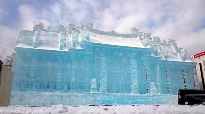 SAPPORO SNOW FESTIVAL 2015 台湾・行天宮 氷像