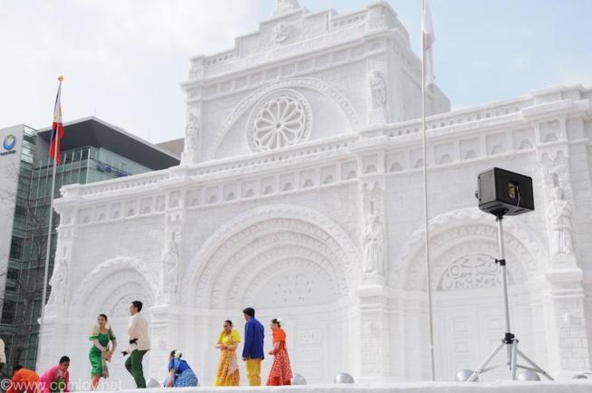 SAPPORO SNOW FESTIVAL 2015 フィリピン広場「マニラ大聖堂」