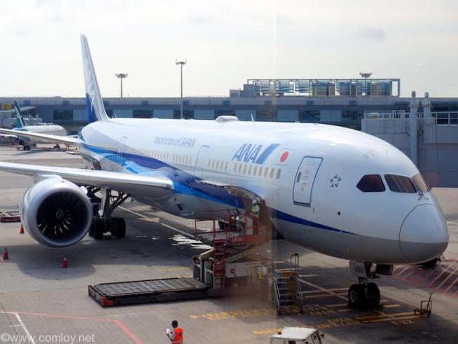 NH842 シンガポール - 羽田 JA886A Boeing787-9 61522/491 2016/10