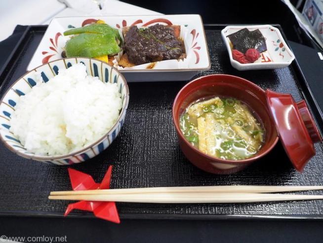 日本航空JL31 羽田 - バンコク ビジネスクラス機内食