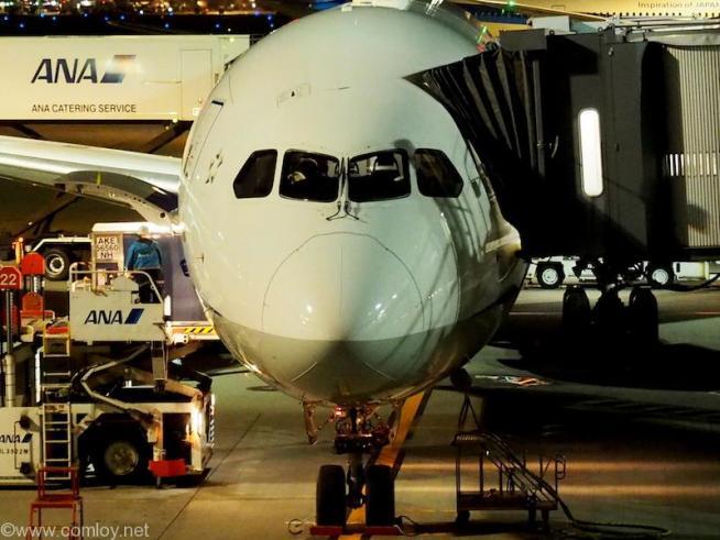 本日の飛行機 JA872A 787-9 34504/329 2015/8〜 (羽田到着時撮影)