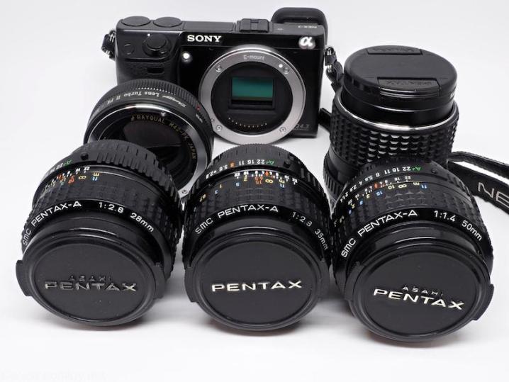 NEX-7 +LENS TURBO Ⅱ+PENTAX-A シリーズ