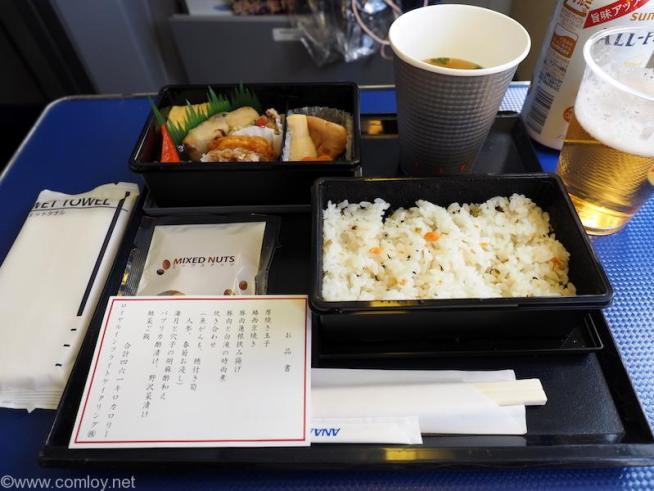 ANA464 羽田 - 沖縄 プレミアムクラス機内食