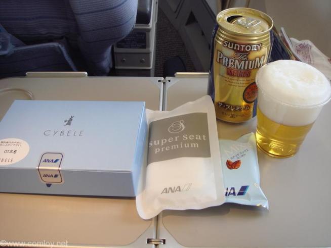 ANA1409 羽田 - 沖縄 Super seat premium機内食