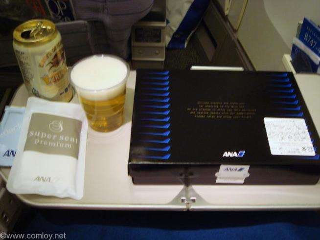 ANA 沖縄 - 羽田 Super seat premium機内食