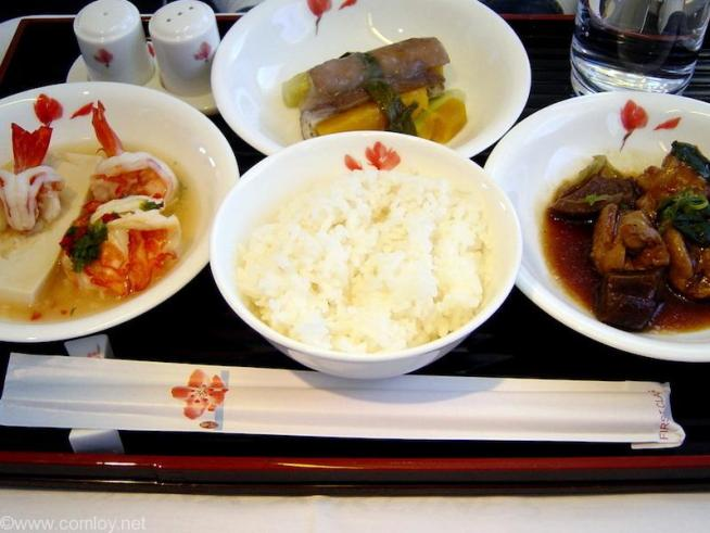 China Airline CI18 TAIPEI - NARITA First Class 機内食