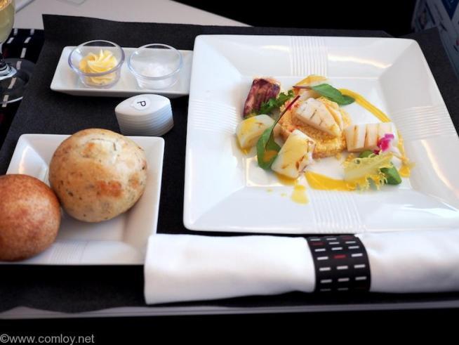 日本航空 JL37 羽田 - シンガポール ビジネスクラス機内食
