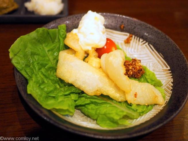箱根温泉旅館「仙石高原箱根一の湯」 舌平目のフリッター タルタル添え