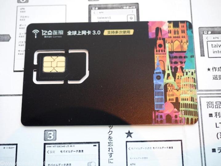 今回台湾で使ったSIMカード