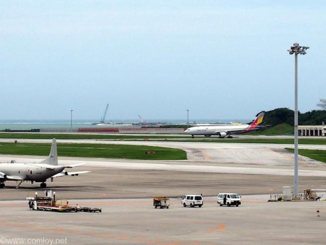 那覇空港の滑走路はそう簡単に横断できませんよ