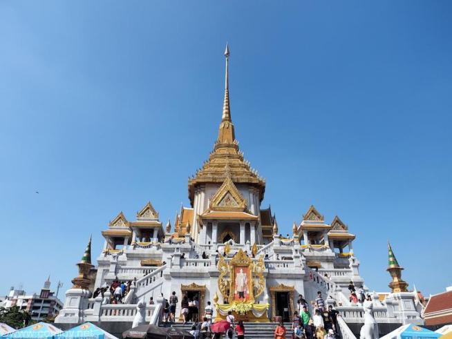 「黄金仏寺院(ワット・トライミット)(The Golden Buddha Temple Tri Mit Road Bangkok Thailand)」