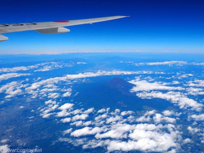 日本航空 JL29 羽田 - 香港 富士山上空