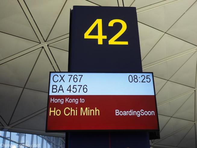 キャセイパシフィック CX768 香港 - ホーチミン ボーディング