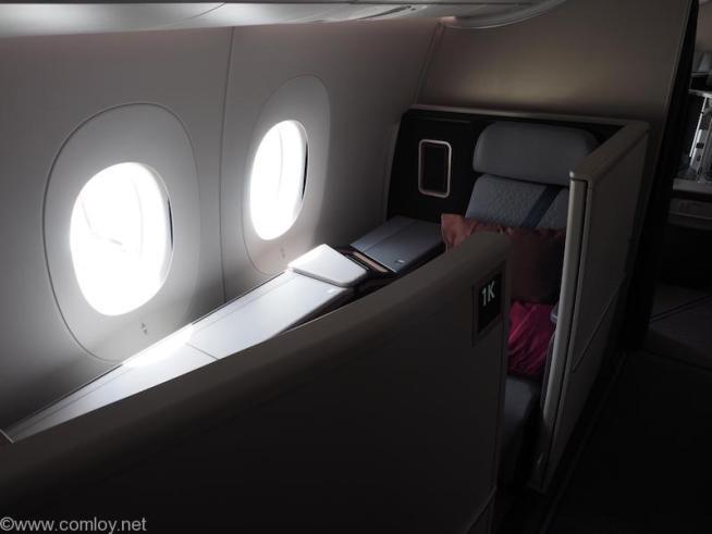 マレーシア航空A350ファーストクラス