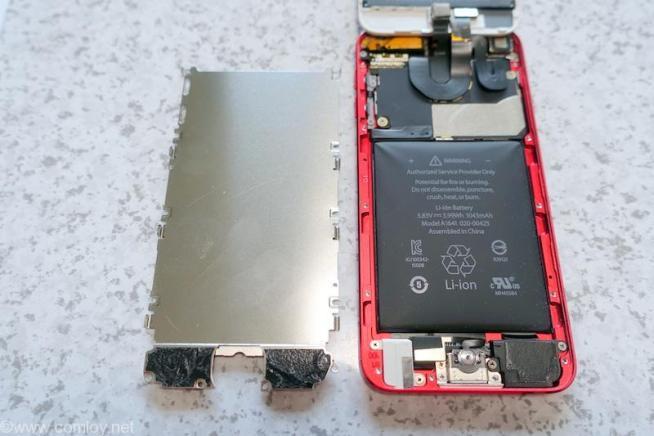ipod Touch 第6世代開腹 金属パネルを開ける