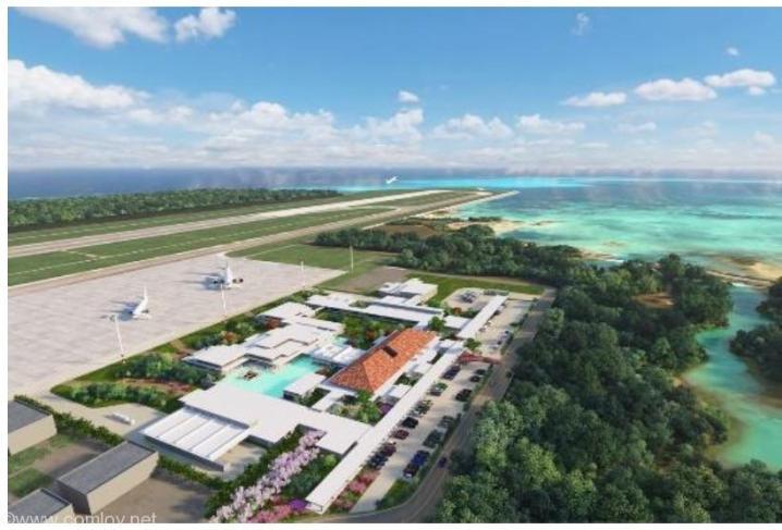 下地島空港 旅客ターミナル 完成予想CG(出展:プレスリリース)