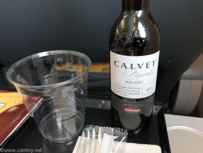 スクート(SCOOT) TR869 成田 - バンコク 機内食 赤ワイン