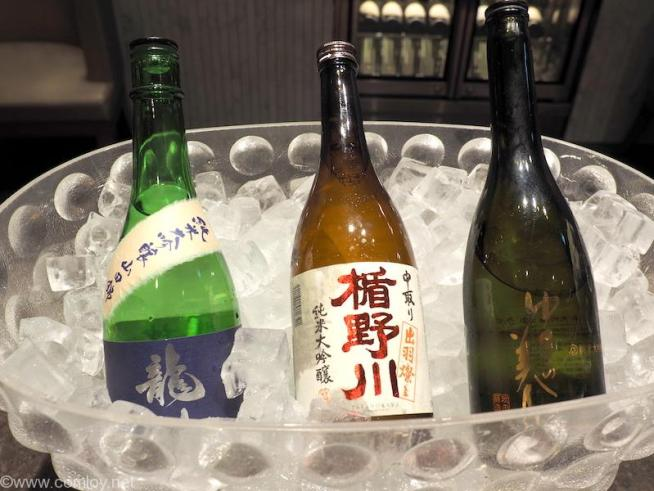 """JAL First Class Lounge """"RED SUITE"""" 日本酒"""