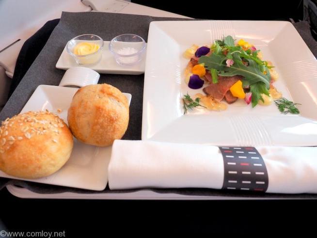 日本航空 JL31 羽田 - バンコク ビジネスクラス 機内食 全景