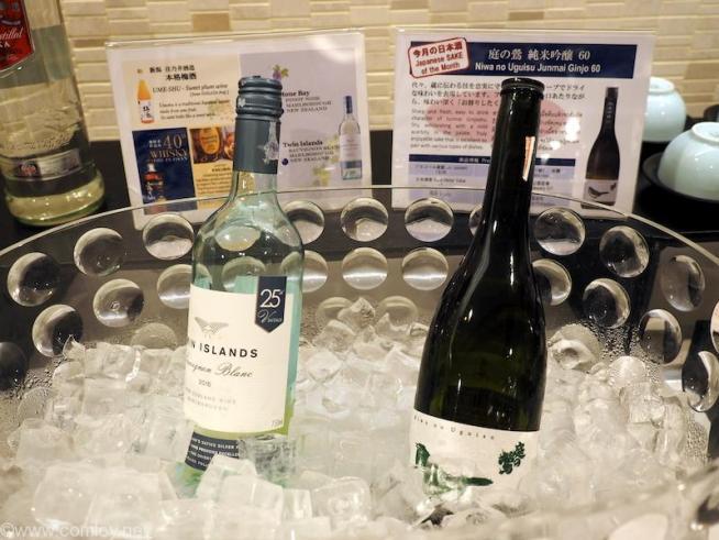 バンコク スワンナプーム空港 日本航空サクララウンジ 日本酒