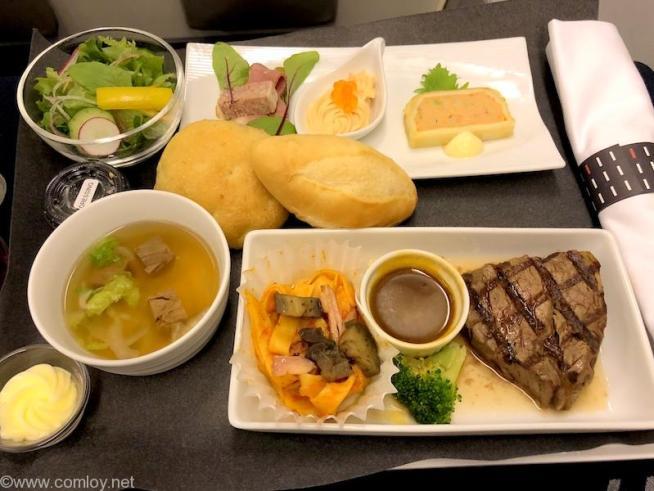日本航空 JL99 羽田 - 台北(松山)ビジネスクラス機内食 夕食