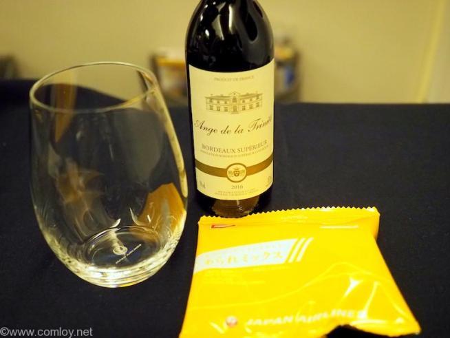 日本航空 JL99 羽田 - 台北(松山)ビジネスクラス機内食 赤ワイン