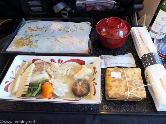 日本航空 JL805 成田 - 台北(桃園) ビジネスクラス機内食