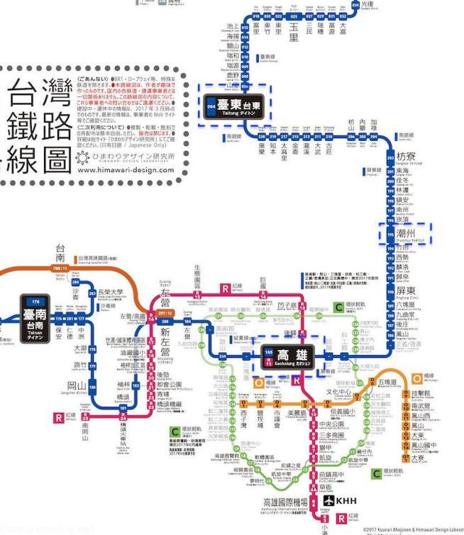 日式台湾鉄道路線図