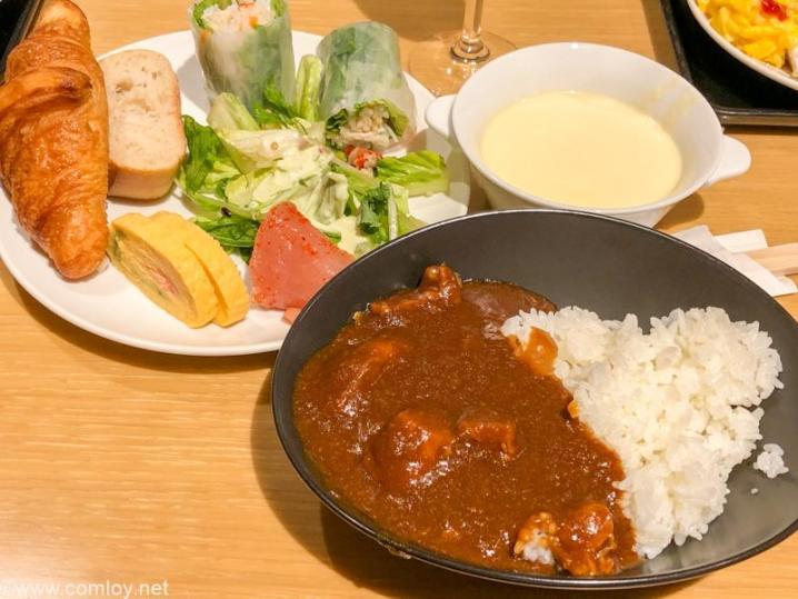 羽田空港 JAL サクララウンジ 今日の朝食