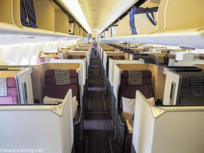 日本航空 JL006 羽田 - ニューヨーク ビジネスクラス JAL SKY SUITE SS7