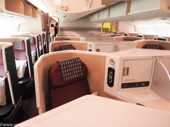 日本航空 JL32 バンコク - 羽田 ビジネスクラス