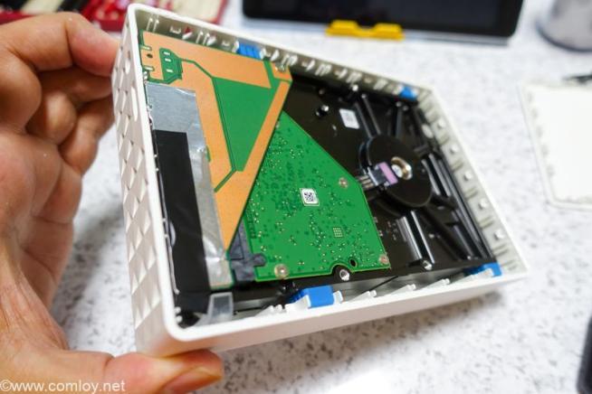 外付けHDDケースに中身を移植