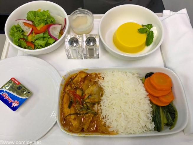 マレーシア航空 MH783 バンコク - クアラルンプール ビジネスクラス 機内食