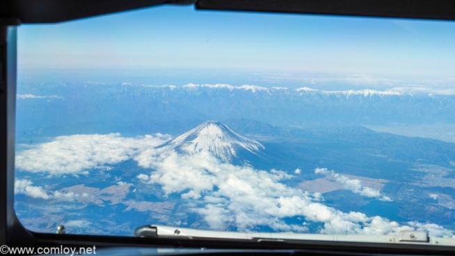 コックピットから見る富士山