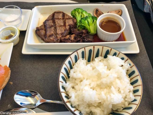 日本航空 JL31 羽田 - バンコクビジネスクラス 機内食