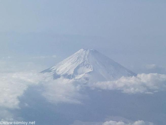 日本航空 JAL919 羽田 - 那覇 富士山