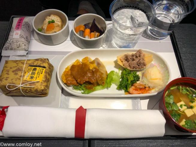 日本航空 JAL920 那覇 - 羽田 ファーストクラス機内食