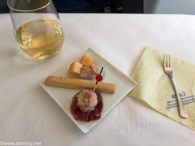 全日空 NH848 バンコク - 羽田 ビジネスクラス 機内食