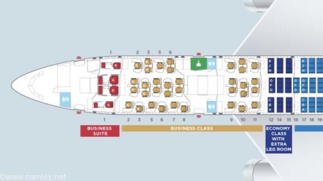マレーシア航空 A350-900 座席