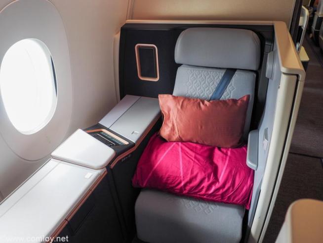 マレーシア航空 A350-900 ビジネススイート座席