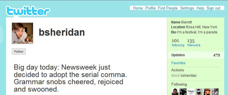 serial comma tweet