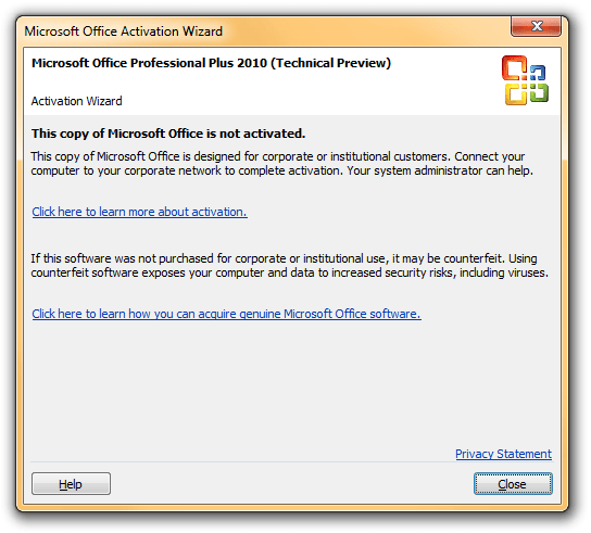 ms office 2010 activation patch