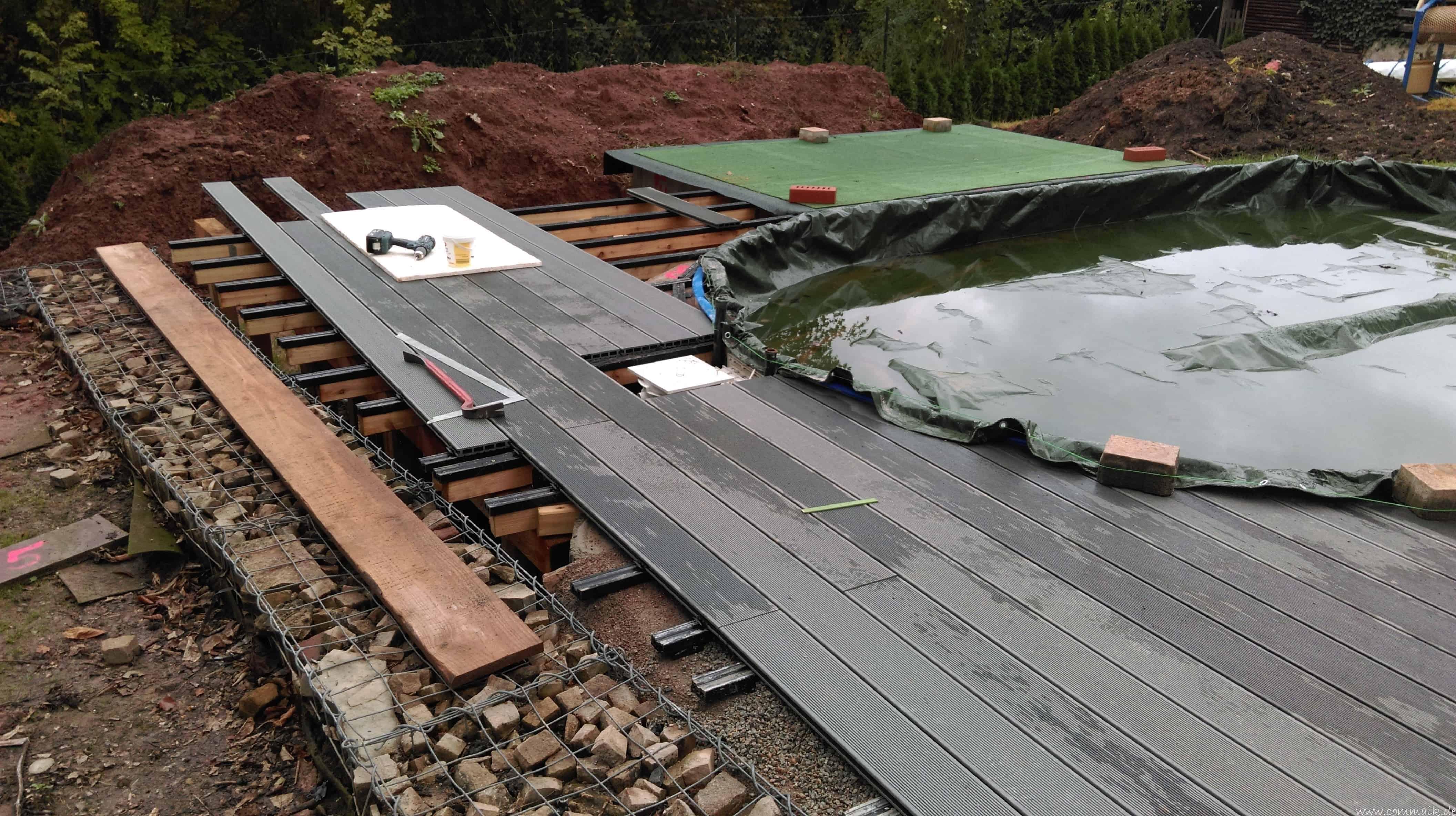 Projekt Poolterrasse – Bau Der Unterkonstruktion Und Verlegen Der