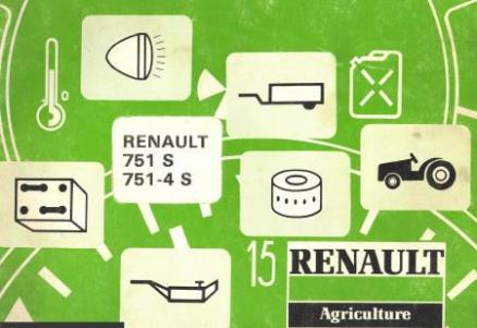 Renault 751S 751-4S Manuel utilisateur