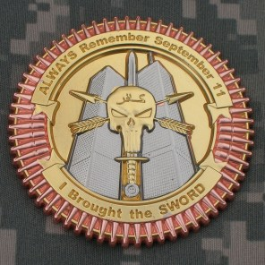 TF Dagger Commemorative Challenge Coin - First Overseas Version: Reverse